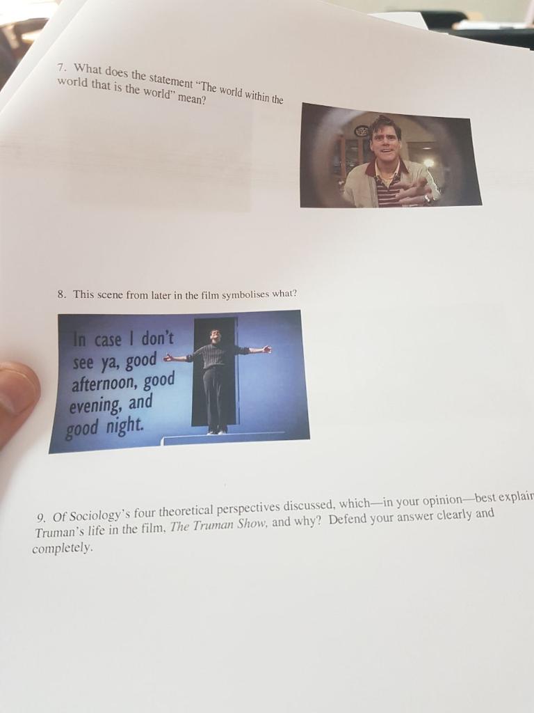 truman show symbolism essay