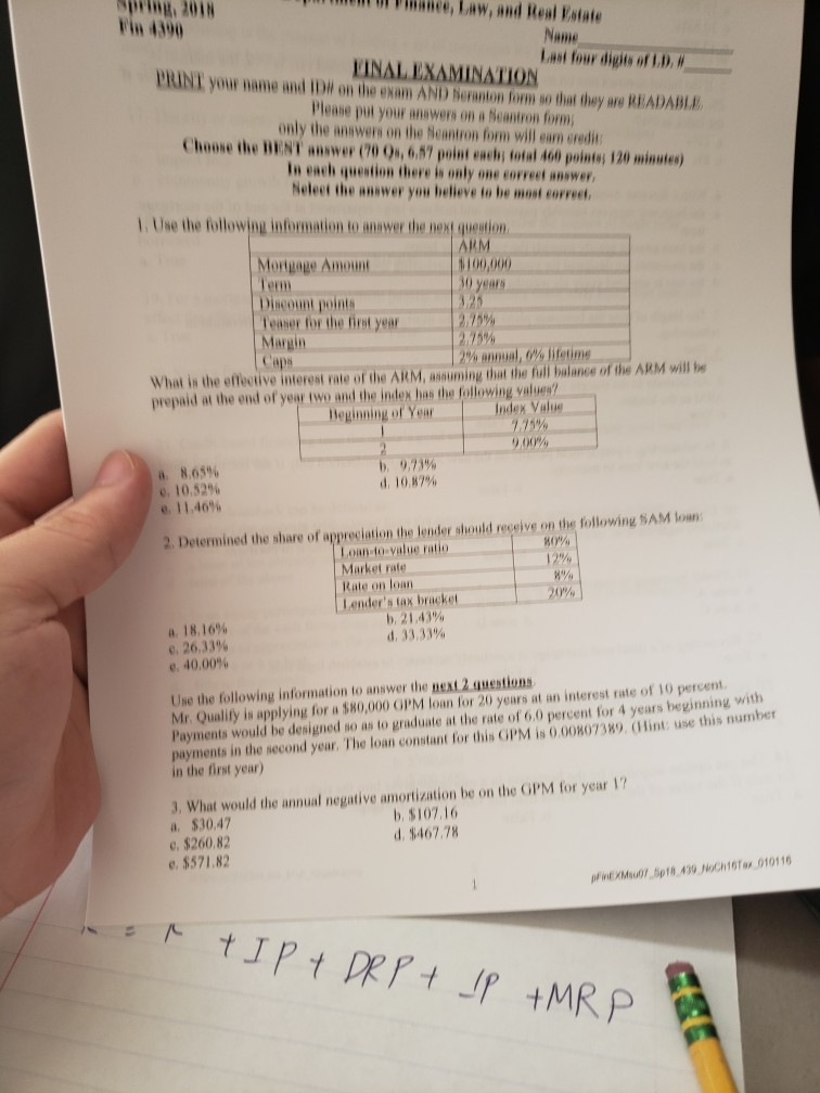 tax law exam answers