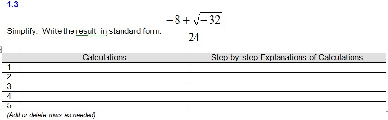 Solved Simplify Write The Result In Standard Form 8 S