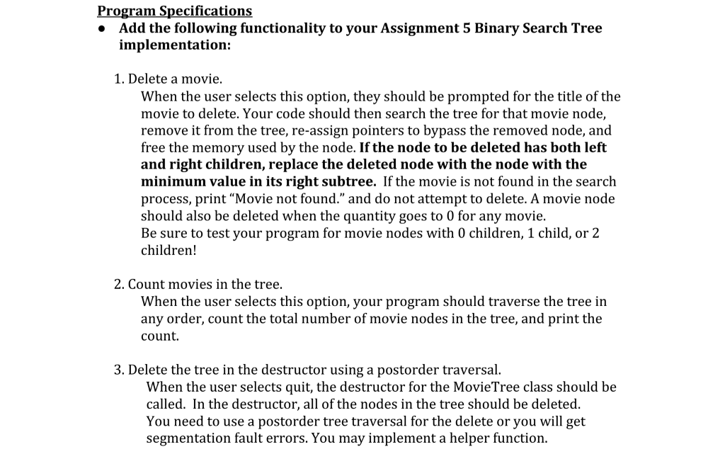 Solved: C++ Binary Search Tree Here Is The  hpp File: #ifn