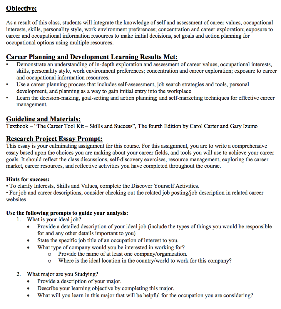 Employment essay