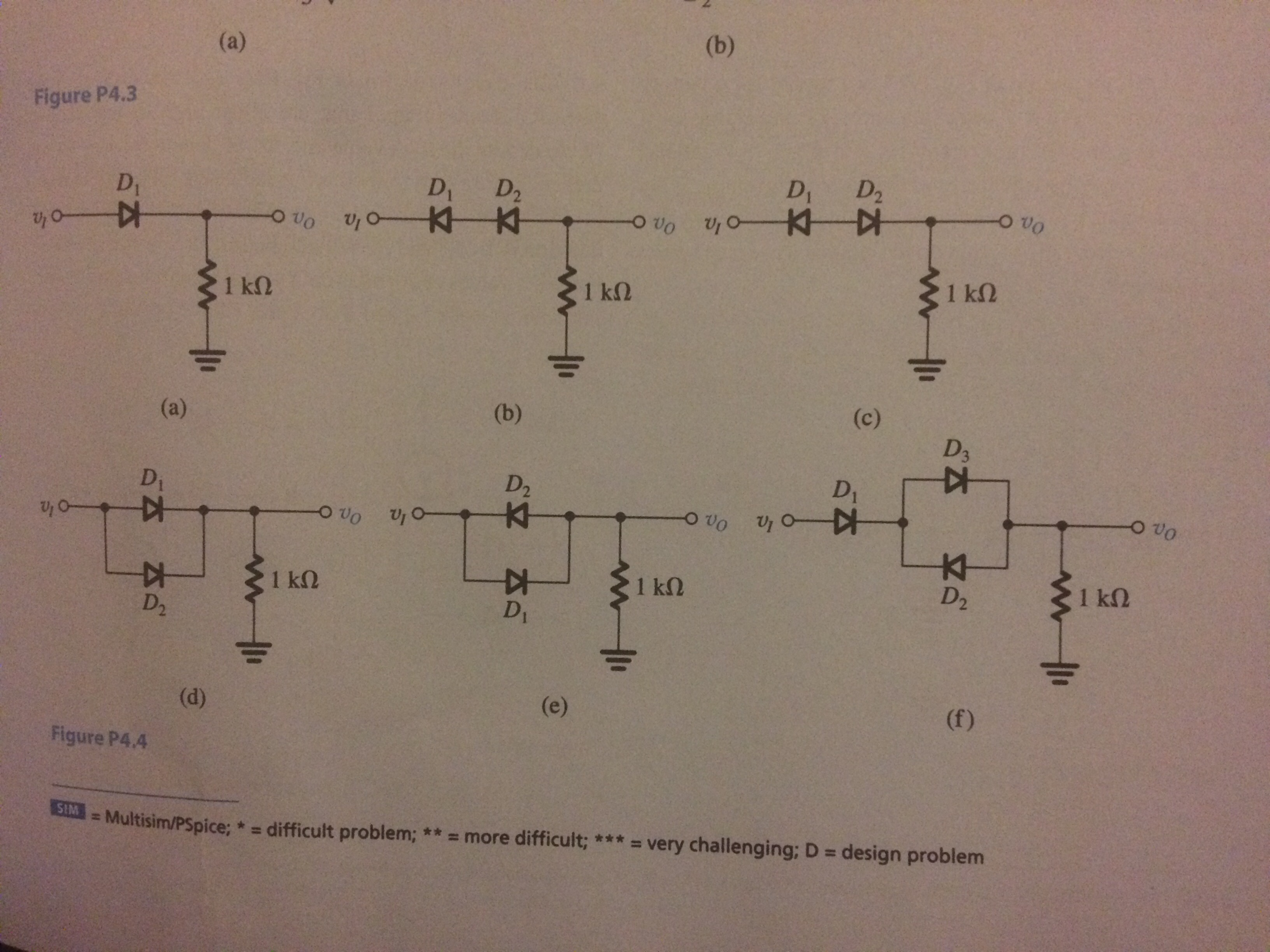 Solved In Each Of The Ideal Diode Circuits Shown Fig See More Show Transcribed Image Text P44 V I Is A 1 Khz 5 Peak Sine Wave
