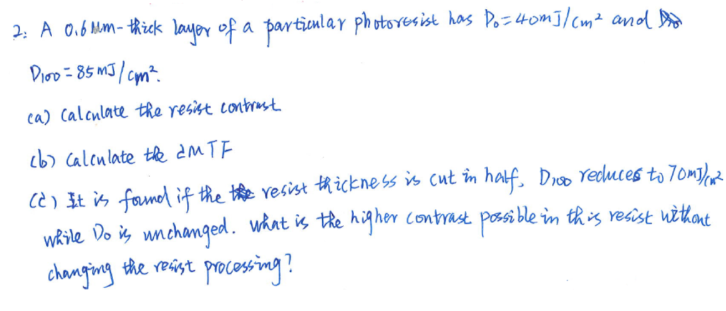 A o.sum-tkick layY of a partiolar phrtsma kas p. 4om3/c_ and汾 ca) Calculate eyesat lotrast b allate t eMTE