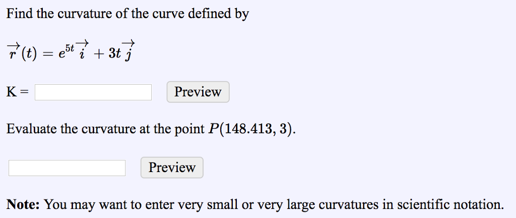 Solved: Find The Curvature Of The Curve Defined By 5t K= P
