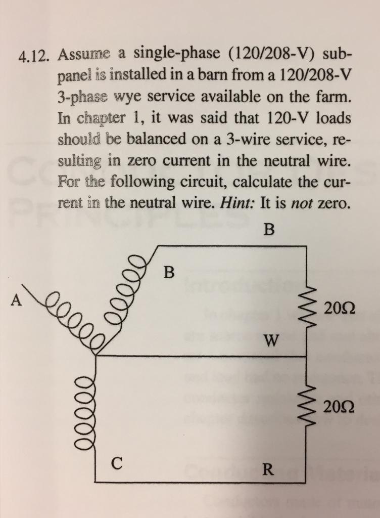 Solved: 4.12. ume A Single-phase (120/208-V) Sub- Panel ... on main panel grounding diagram, sub panel diagram, subpanel installation,