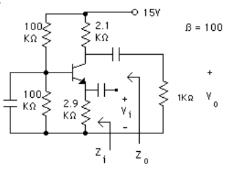 solved a) construct the hybrid pi model for the circuit ao 15y β\u003d 100 1 100 1002, 2 9 0