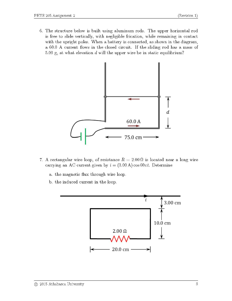 Solved: PFYS 205 Assignment 6. The Structure Below Is Buil ...