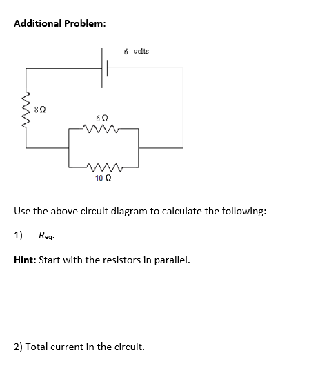 Solved use the above circuit diagram to calculate the fol question use the above circuit diagram to calculate the following req ccuart Images