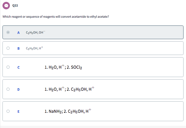 Solved: Q16: Which Of The Following Compounds Will Convert