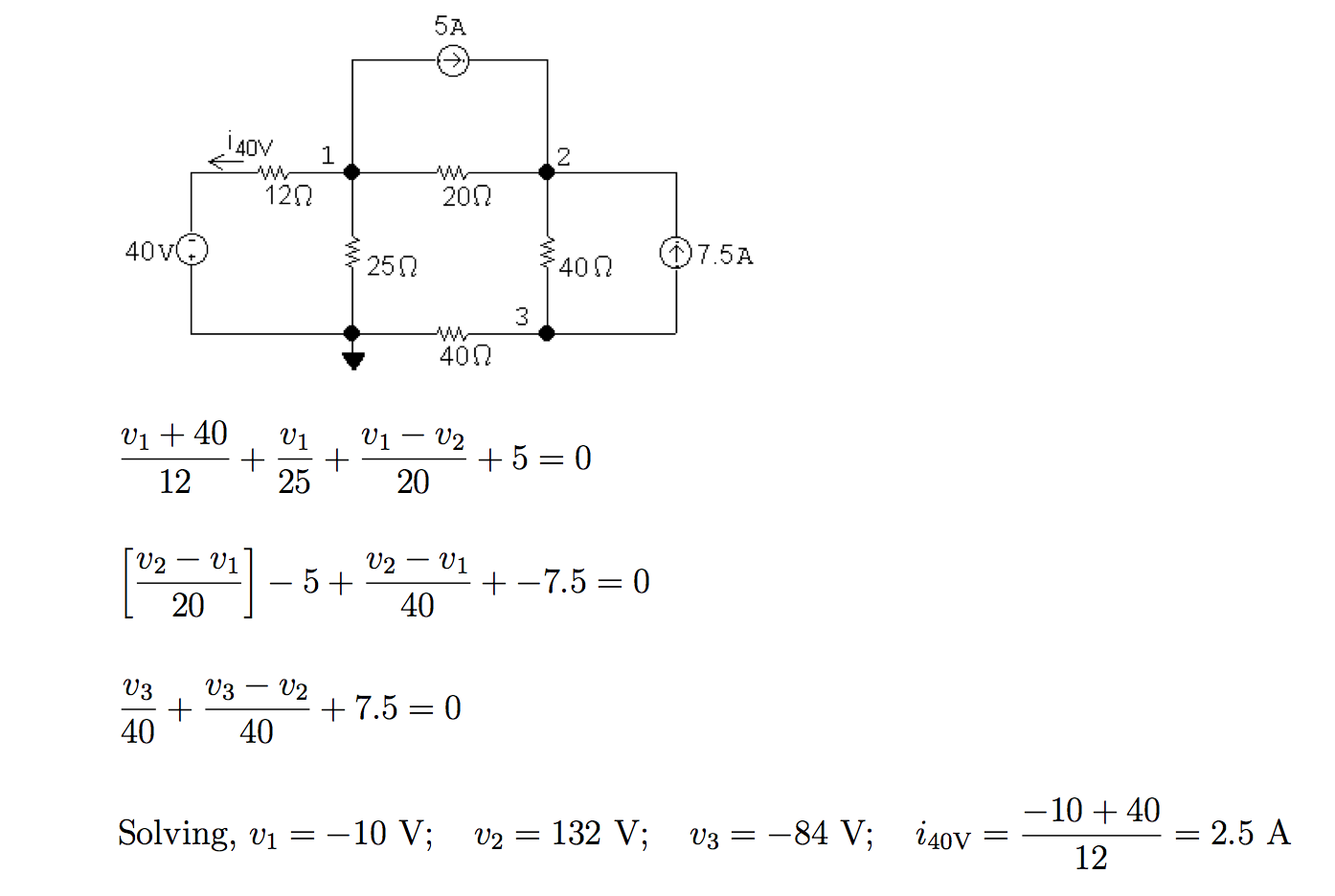 Solved Use The Node Voltage Method To Find Total Powe Circuit Solving Tutorial 5