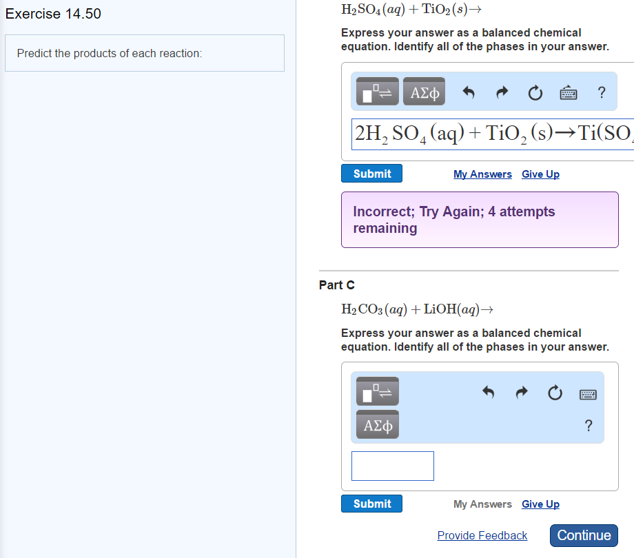 Solved: Predict The Products Of Each Reaction: H_2SO_4 (aq ...