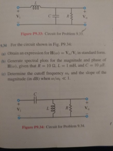 Solved Figure P933 Circuit For Problem 933 934 For Th