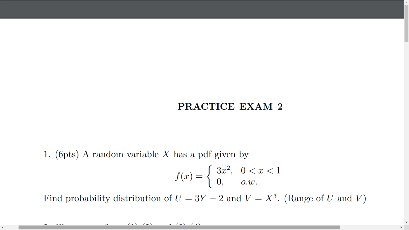 A Random Variable X Has A Pdf Given By F(x) = {3x