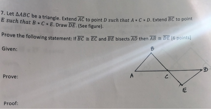 Let Delta ABC Be Triangle Extend AC To Point D Su