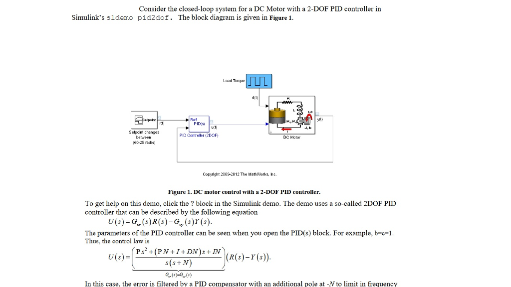 Consider The Closed Loop System For A Dc Motor Wit Chegg