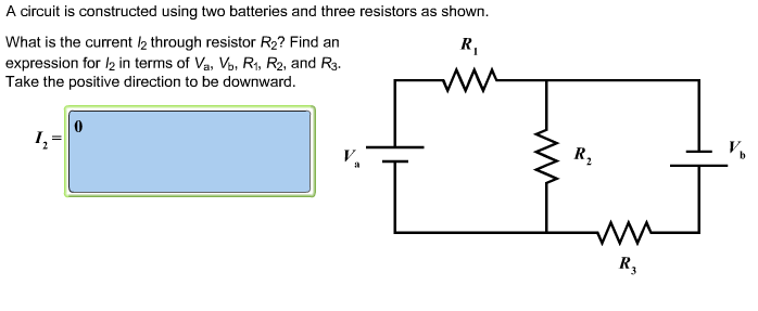 solved a circuit is constructed using two batteries and t rh chegg com