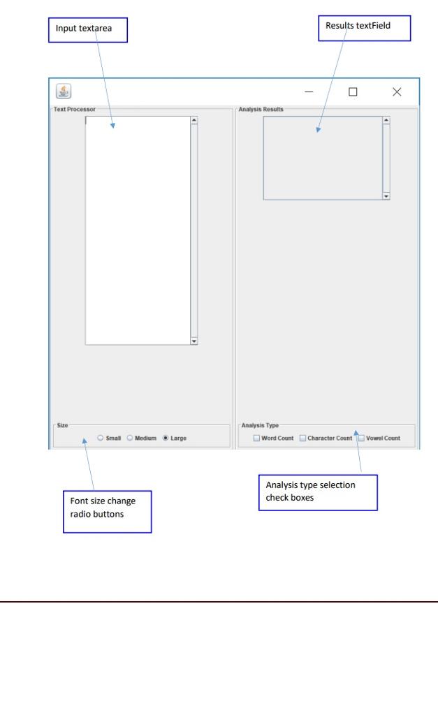 Results Textfield Input Textarea Text Processor An Chegg Com