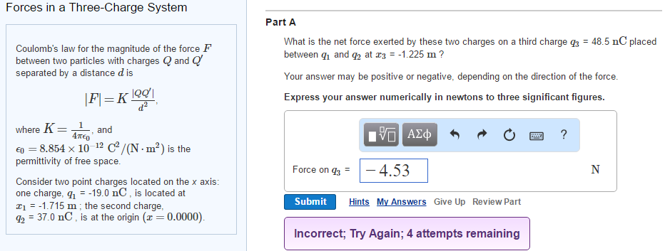 Solved Coulomb S Law For The Magnitude Of The Force F Bet Chegg Com