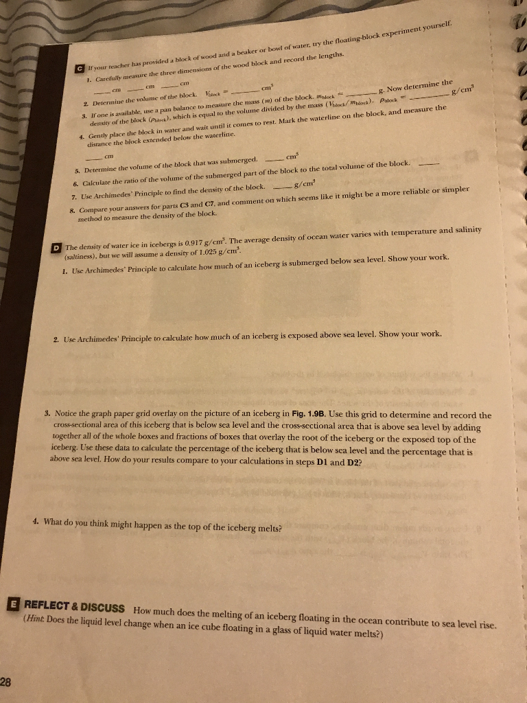 I need lab 1 (1.4) answers for Physical Geology 11th edition .