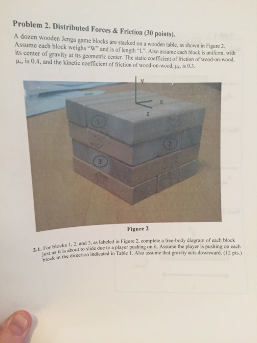 Solved A Dozen Wooden Jenga Game Blocks Are Stacked On A
