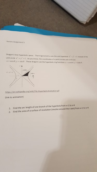 Solved: Honors AssignmentS Dragon's Love Hyperbolic Space