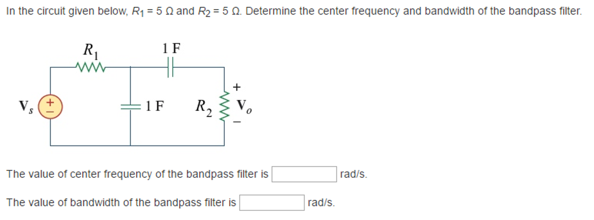 solved in the circuit given below r 1 5 ohm and r 2