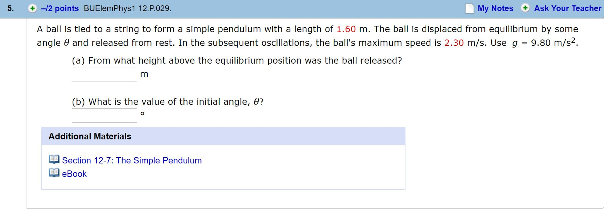 Physics archive november 04 2016 chegg a ball is tied to a string to form a simple pendul fandeluxe Image collections