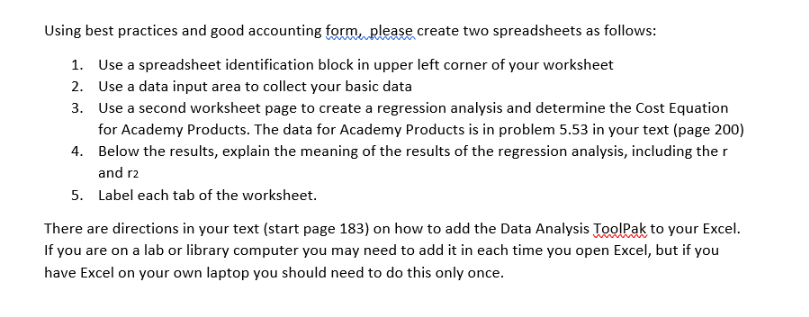 Using Best Practices And Good Accounting Form Plea... | Chegg.com