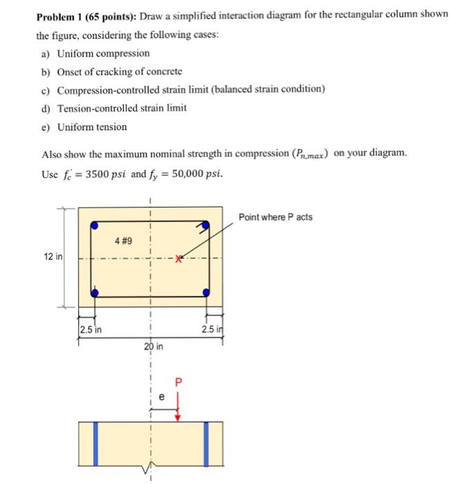 problem 1 65 points draw a simplified interacti chegg com rh chegg com Concrete Column Design British Concrete Column Design Example
