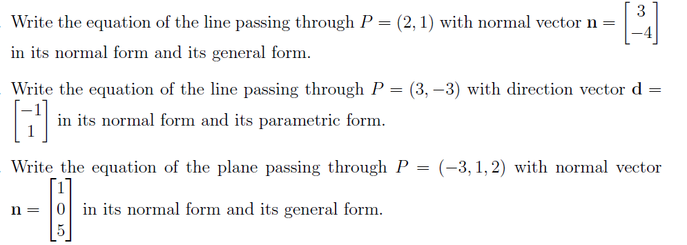 solved write the equation of the line passing through p