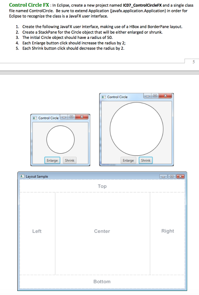 Solved: Control Circle FX: In Eclipse, Create A New Projec