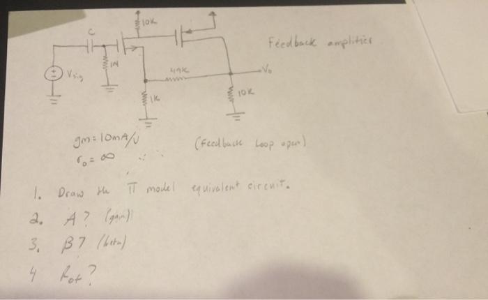 Circuito Alpha : Solved: draw the pi model equivalent circuit a? alpha b