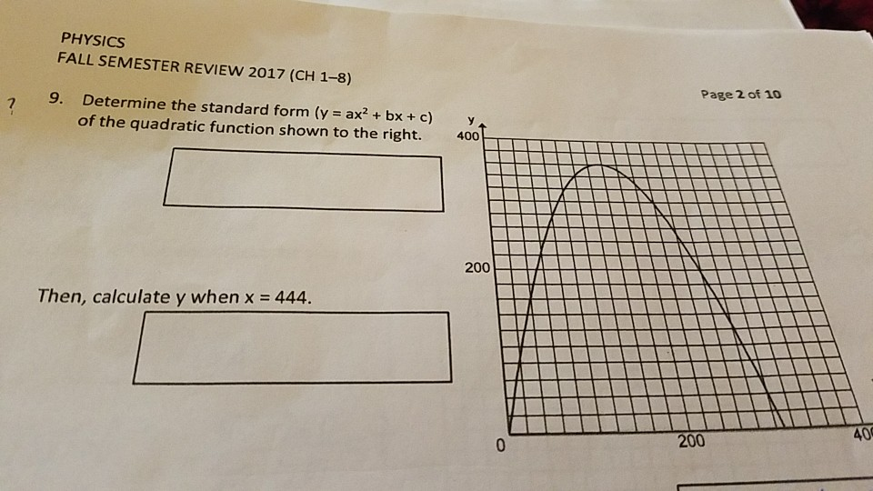 Solved Physics Fall Semester Review 2017 Ch 1 8 Page 2
