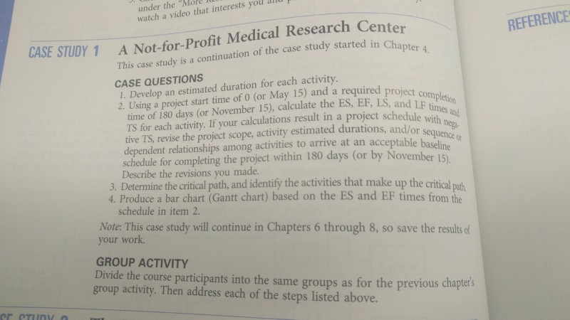 a not for profit medical research center case study