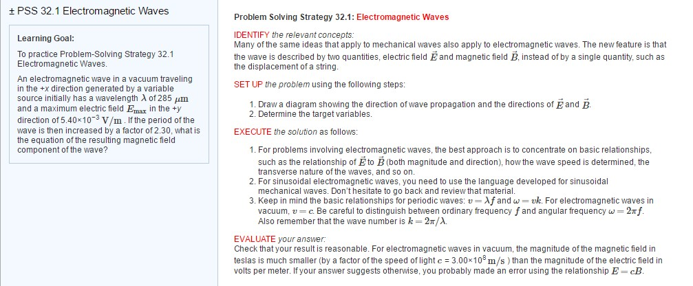 Electromagnetic Waves Learning Goal To Practice