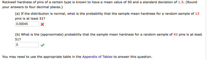 Statistics and probability archive february 16 2018 chegg rockwell hardness of pins of a certain type is known to have a mean value of fandeluxe Choice Image