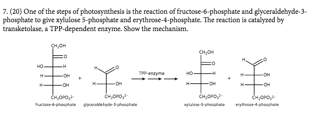 Solved One Of The Steps Of Photosynthesis Is The Reaction