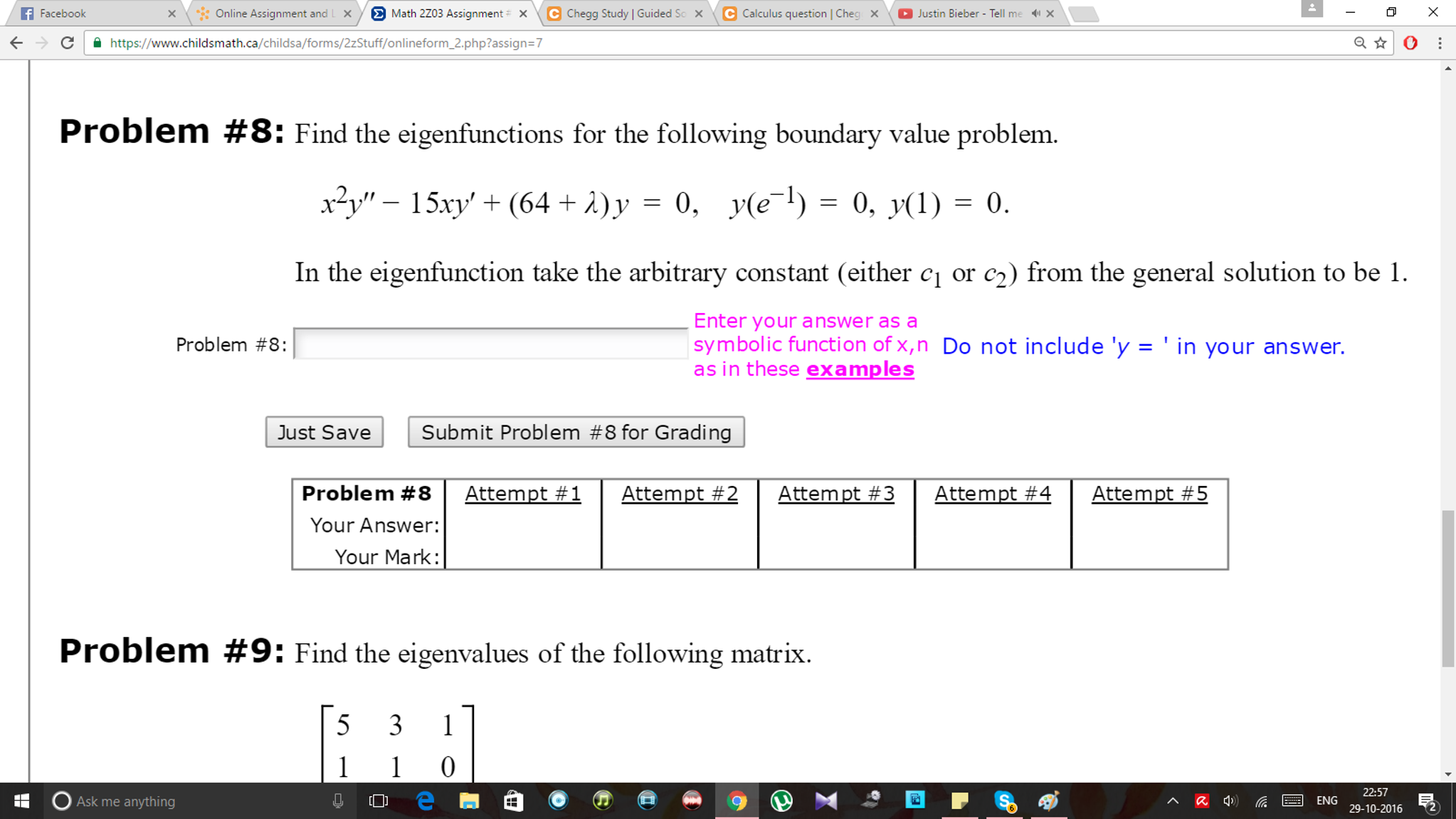 Solved: F Facebook × \  :: Online Assignment And Math 2ZO3