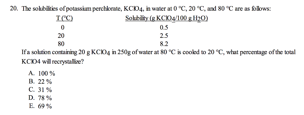 is potassium chlorate soluble in water