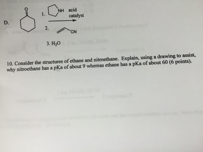 Solved: Consider The Structure Of Ethane And Nitroethane