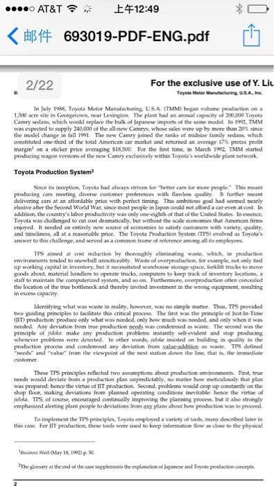 toyota motor manufacturing case study pdf