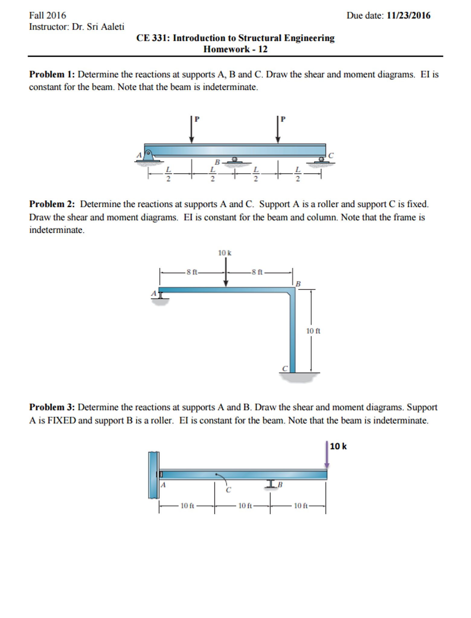 Solved Determine The Reactions At Supports A B And C Dr Draw Shear Bending Moment Diagrams For Cheggcom