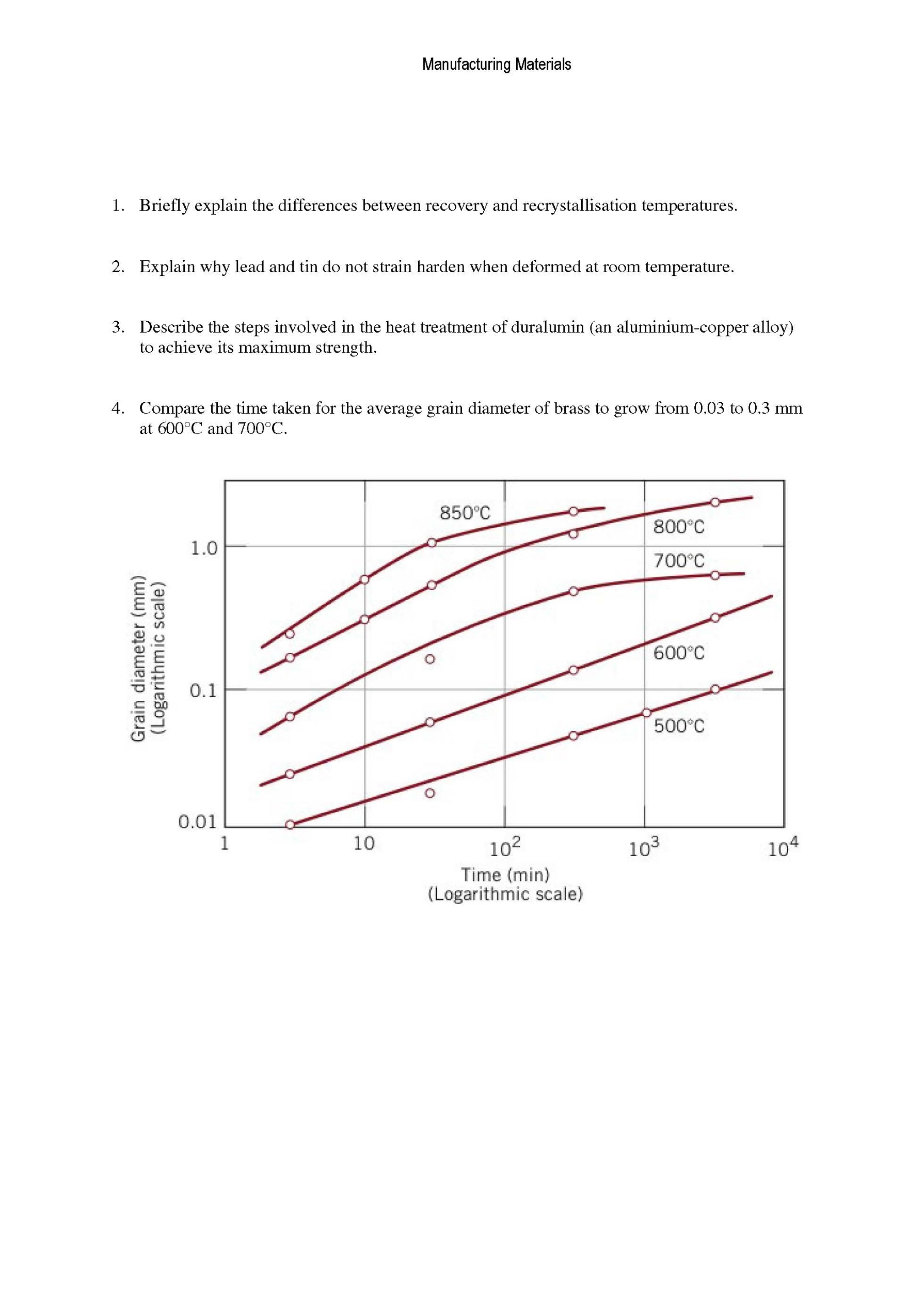 worksheet Human Body Pushing The Limits Strength Worksheet mechanical engineering archive august 24 2015 chegg com image for 1 briefly explain the differences between recovery and recrystallisation temperatures 2