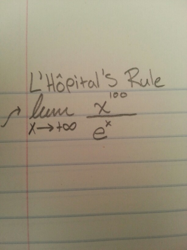 Solved: How Do I Find The Limit Using L'Hopitals Rule ...