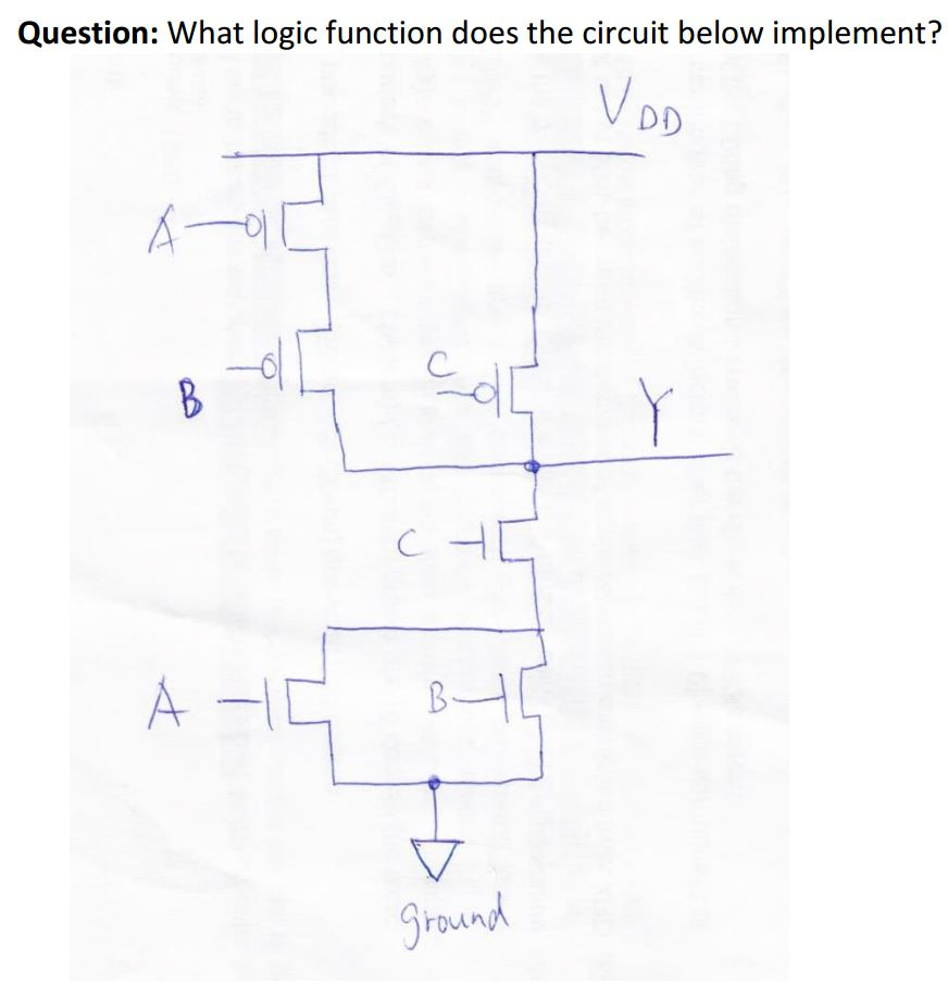 solved logic functions can someone please explain in detaquestion what logic function does the circuit below implement? round