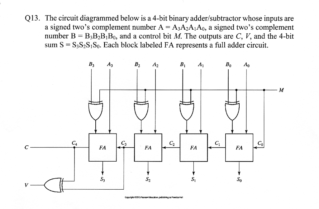 Q13 The Circuit Diagrammed Below Is A 4 Bit Binar Chegg Com
