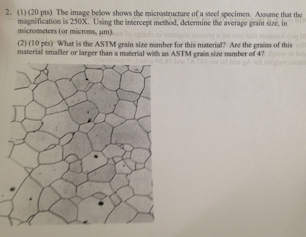 2. (1)The Image Below Shows The Microstructure Of ...