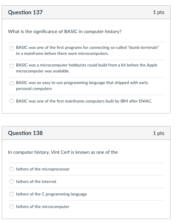 Solved: Question 137 1 Pts What Is The Significance Of BAS