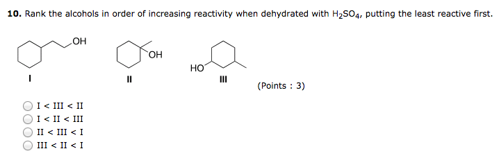 dehydration of alcohols essay Dehydration of more complicated alcohols this page builds on your understanding of the acid catalysed dehydration of alcohols you have to be wary with more complicated alcohols in case there is the.