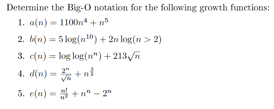 how to solve big o notation